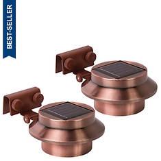 Rethink 2-Pack Copper Solar Gutter Lights