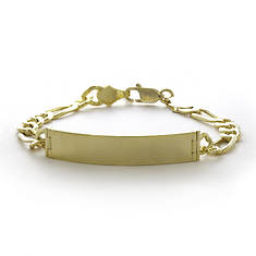 Gold Plated ID Figaro Bracelet