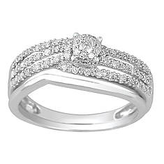 Modern Engagement Ring with Shadow Band
