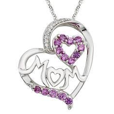 MOM Gemstone Heart Pendant