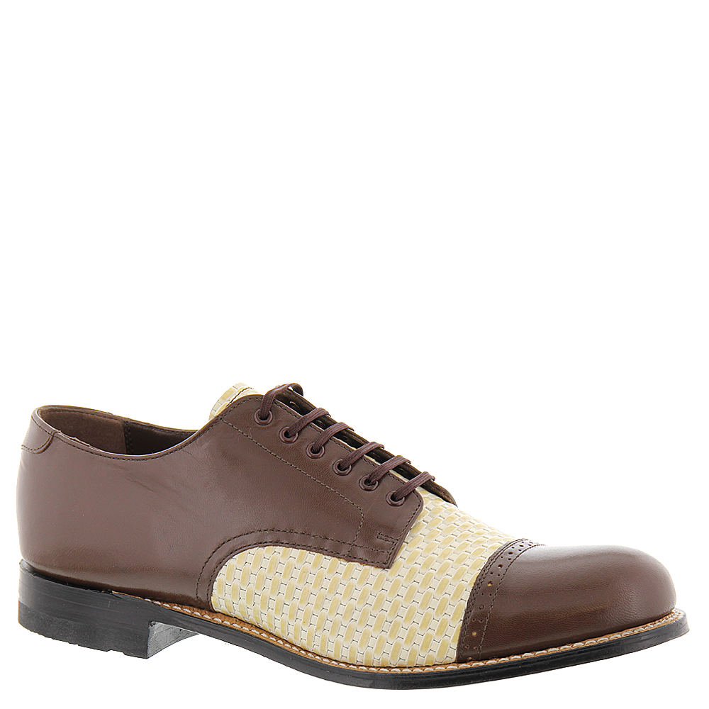 1920s Style Mens Shoes | Peaky Blinders Boots Stacy Adams Madison 00070 Mens Brown Oxford 13 D $129.95 AT vintagedancer.com