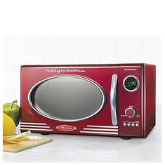 Nostalgia Electrics 0.9 Cubic Foot Retro Microwave
