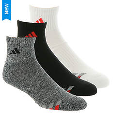 adidas Color Cushioned 3-Pack Quarter Socks (Men's)
