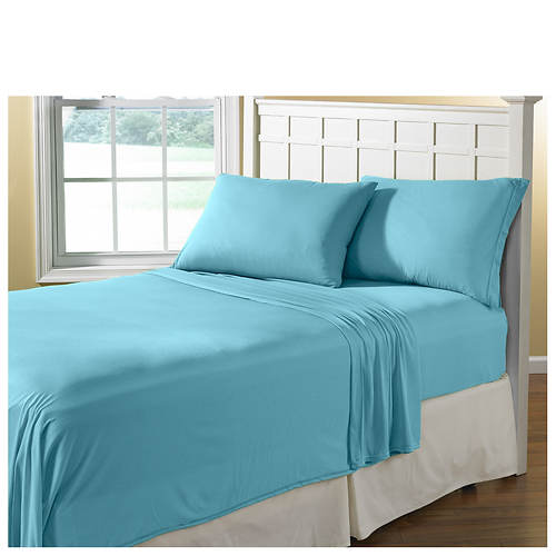 jersey knit sheet set stoneberry. Black Bedroom Furniture Sets. Home Design Ideas
