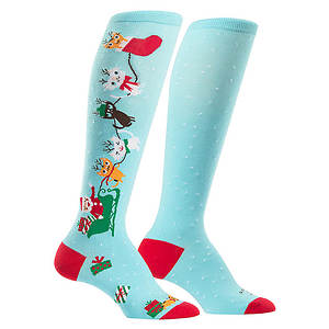 Sock It To Me Jingle Cats Knee High Socks