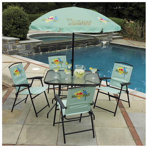 Margaritaville 6 Piece Folding Patio Set Color Out Of Stock