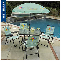 Margaritaville 6-Piece Folding Patio Set
