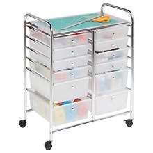 12-Drawer Rolling Craft Cart