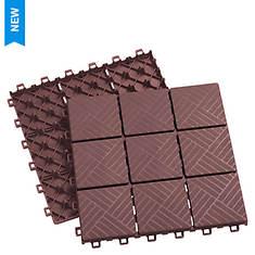 Interlocking 12-Piece Set Patio Pavers