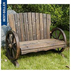 Wagon Wheel Bench