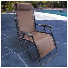 Brown XL Zero Gravity Lounge Chair