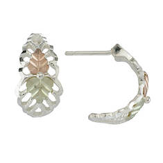 Black Hills Gold Demi-Hoop Earrings