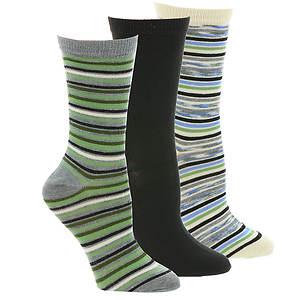 Steve Madden SM30855 3 PK Crew Socks
