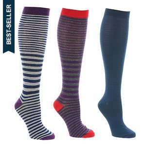Steve Madden SM31309 3 PK Knee High Socks