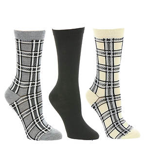 Steve Madden SM31327 3 PK Crew Socks