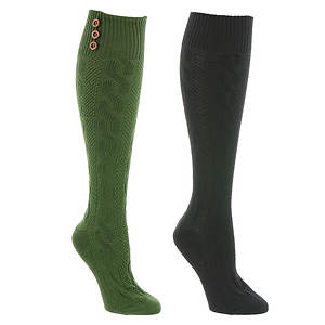 Steve Madden Women's SM31384J 2-Pack Cable Knee High Socks