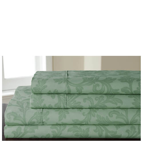 Damask-Print Sheet Set