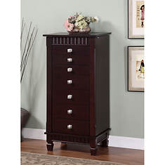 Contemporary Merlot Jewelry Armoire