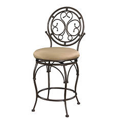 Big & Tall Scroll Circle Back Counter Stool