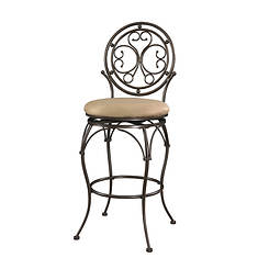 Big & Tall Scroll Circle Back Barstool