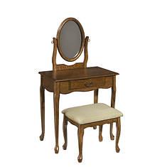 Woodland Vanity, Mirror, and Bench