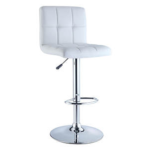 Quilted Adjustable Barstool