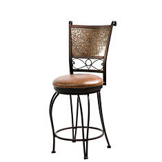 Stamped Back 360° Swivel Counter Stool