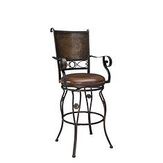 Big & Tall Stamped Back Barstool with Arms