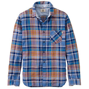 Timberland Men's Mystic River Linen Plaid Shirt