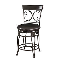 Big & Tall Back-To-Back Scroll Counter Stool