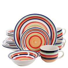 Gibson Santera 16-Pc. Striped Dinnerware Set