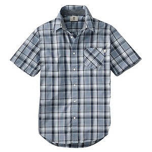 Timberland Men's Short Sleeve Allendale River Plaid Shirt