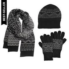 MUK LUKS Hat, Scarf & Texting Glove Set (Men's)