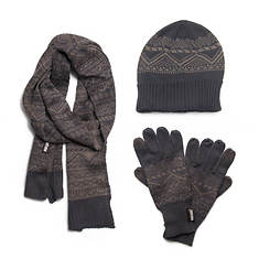 MUK LUKS Hat, Scarf & Texting Glove Set (Men's)