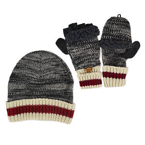 MUK LUKS Sock Cap & Mittens Set (Men's)