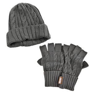 MUK LUKS Cable Cap & Fingerless Gloves (Men's)