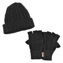 MUK LUKS Cable Cap & Fingerless Gloves (Men's)