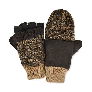 MUK LUKS Cable Flip Mittens (Men's)