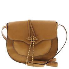 STEVEN Bianca Pin Stud Toggle Saddle Crossbody Bag