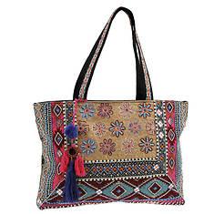 STEVEN Sabbie Embroidered Tote Bag