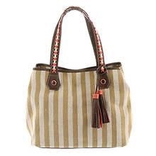 STEVEN Wesley Striped Tote Bag