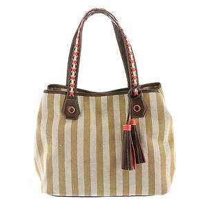 STEVEN Wesley Striped Tote Bag