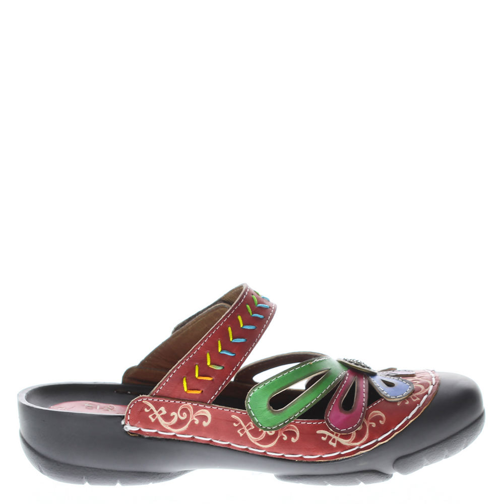 413910a2ea02 L artiste by Spring Step Women s Copa Clog Red Multi Leather 38 M