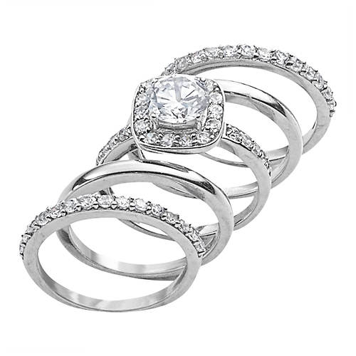 5-Piece Sterling Silver Ring Set