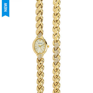 Armitron Women's Swarovski Crystal Watch And Bracelet Set
