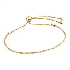 10K Gold Glitter Twist Adjustable Bracelet