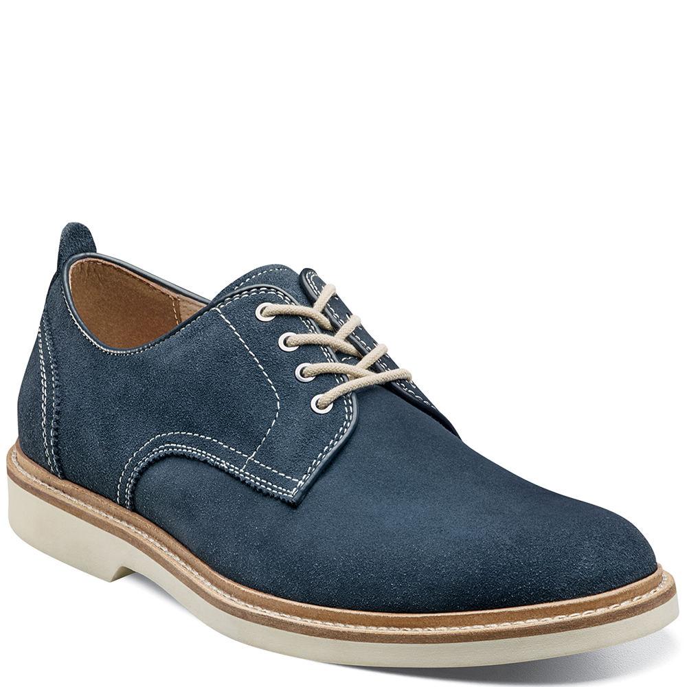 1950s Mens Shoes: Saddle Shoes, Boots, Greaser, Rockabilly Florsheim Bucktown Plain Toe Oxford Mens Navy Oxford 9.5 M $114.95 AT vintagedancer.com