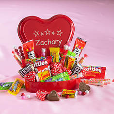 Personalized Candy Classics Heart Tin