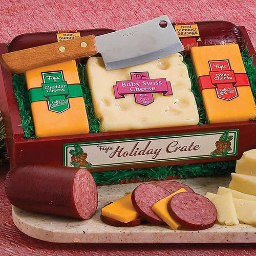 Crateful of Wisconsin's Best Cheese & Sausage