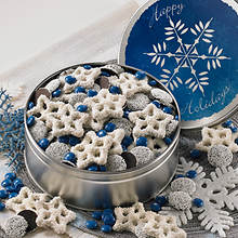 White Snowflake Pretzels & Chocolate
